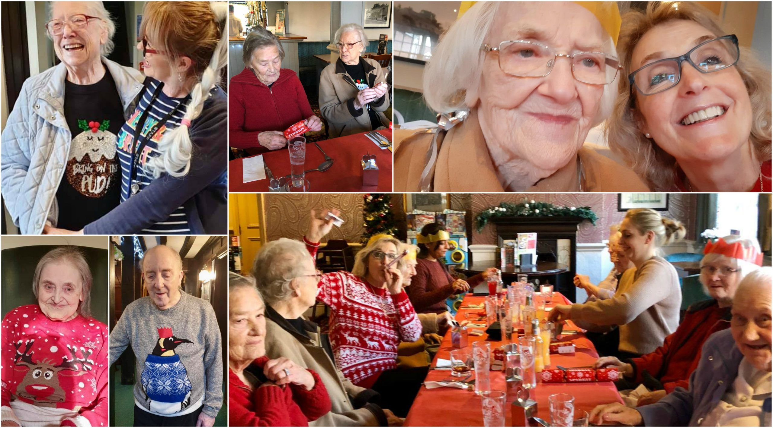 Residents at Old Raven House Care Home enjoy the festivities over Christmas.