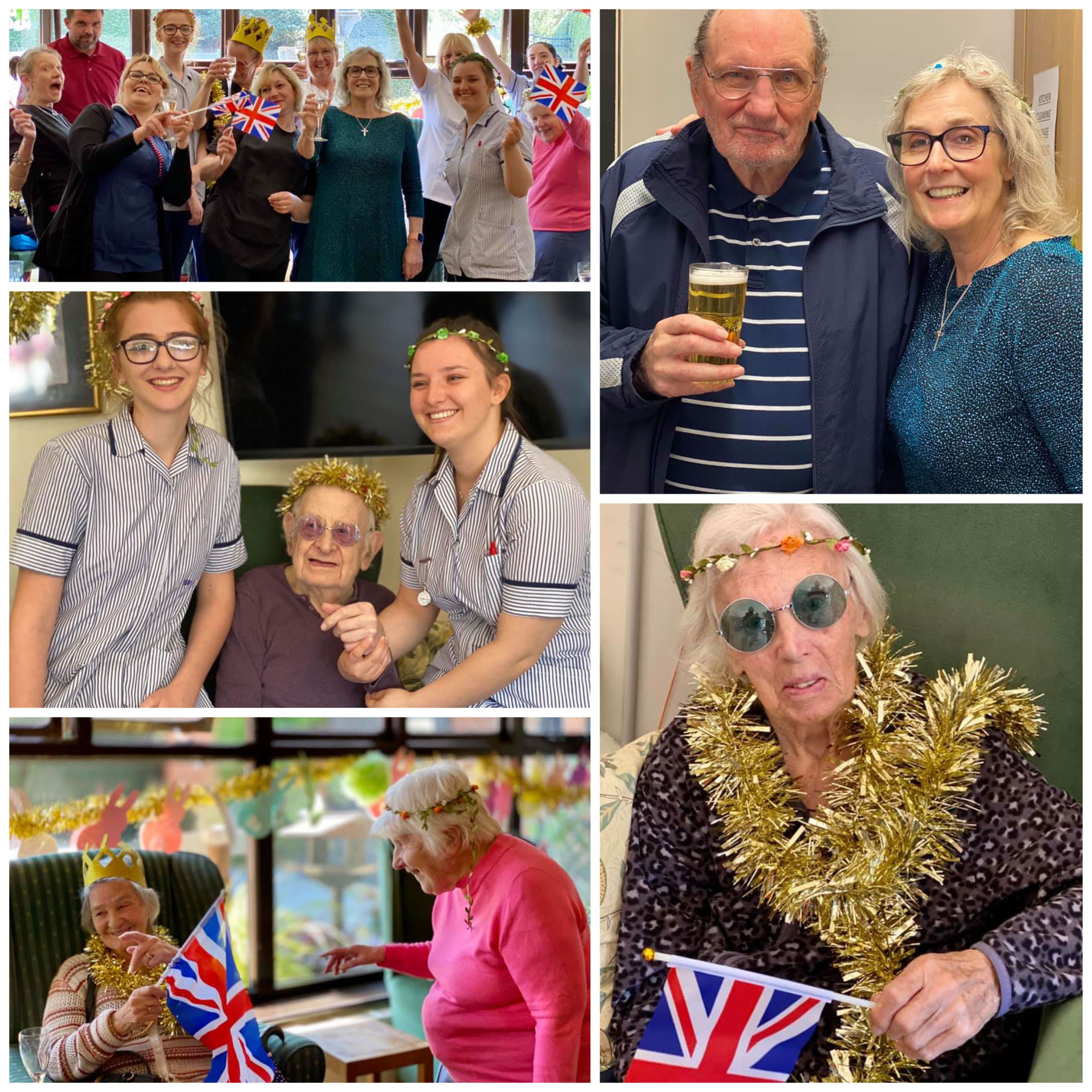 The residents and team at Old Raven House Care Home enjoy a party as part of the 'Sparkle For Social Care' initiative.